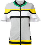 NO KA 'OI No Ka' Oi - Nuha frill trim sports jacket - women - Polyamide/Spandex/Elastane - XS