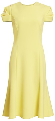 Jason Wu Collection Compact Crepe Fluted Sheath Dress