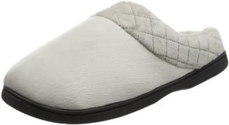 Dearfoams Women's Velour Closed Back w/Embr Open Slippers