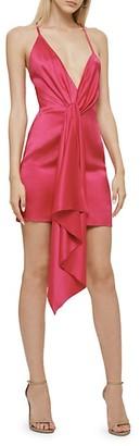 Cushnie Silk Halter Mini Dress