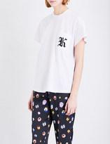 Christopher Kane Patch appliqué cotton-jersey T-shirt