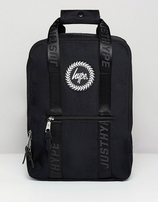 Hype Black Boxy Backpack