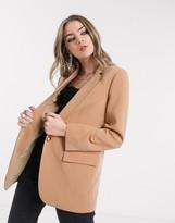 Object oversized blazer in tan