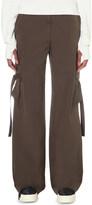 Helmut Lang Cargo straight cotton-poplin trousers
