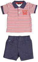 GUESS Short-Sleeve Polo and Shorts Set (0-24M)