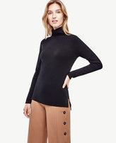 Ann Taylor Petite Mock Neck Tunic Sweater