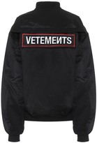 Vetements Police cotton-twill bomber jacket
