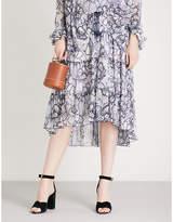 See by Chloe Skakeskin-print chiffon skirt