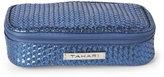 Tahari Blue Metallic Weave Utility Case