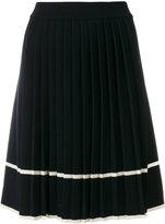 Chinti and Parker stripe pleated skirt - women - Merino - XS