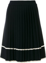 Chinti and Parker stripe pleated skirt