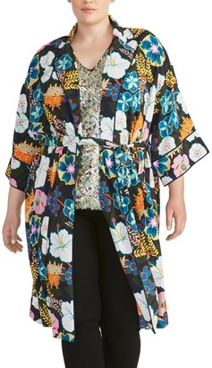 Rachel Roy Glenna Floral Print Jacket