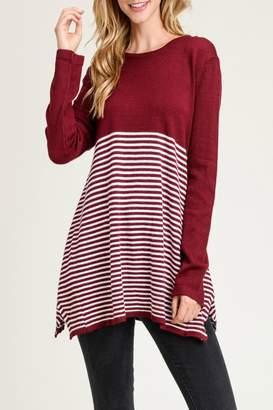 Jodifl Striped Asymmetric-Hemline Sweater