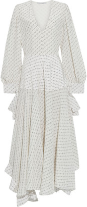 Stella McCartney Marley Asymmetric Printed Silk Crepe De Chine Dress