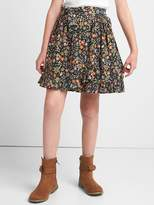 Gap Floral ruffle wrap skirt