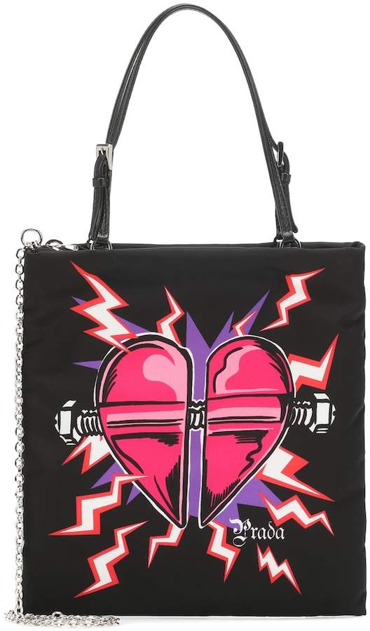 2142c88c64f Heart-print nylon tote