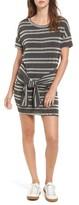 Lush Women's Tie Front Stripe Knit Dress
