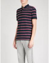 The Kooples Striped Slim-fit Cotton-piqué Polo Shirt
