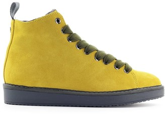 Panchic Yellow Suede Olive Green Boot