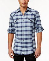 INC International Concepts Men's Plaid Zip-Pocket Shirt, Only at Macy's