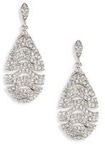 Adriana Orsini Artemis Pave Crystal Teardrop Earrings