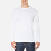 Lacoste Men's Long Sleeved Crew Neck TShirt - White
