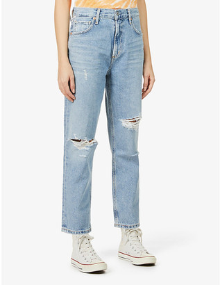 Citizens of Humanity Marlee Relax Taper high-rise organic and recycled cotton-blend jeans