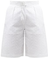 Giuliva Heritage Collection The Stella Broderie-anglaise Linen Shorts - Womens - White