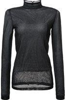 Loewe sheer mesh longsleeved T-shirt - women - Polyester - M
