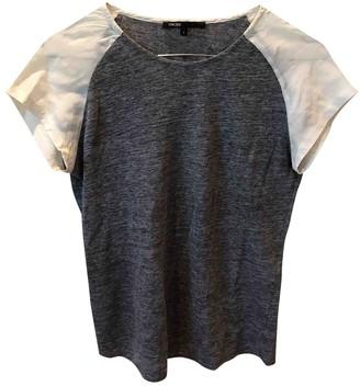 Maje Grey Linen Top for Women