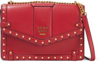 DKNY Whitney Large Studded Pebbled-leather Shoulder Bag