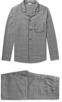 Derek Rose Ranga Prince Of Wales Checked Brushed-cotton Pyjama Set - Black