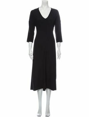 Zero Maria Cornejo Silk Long Dress Black