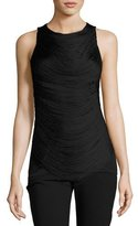 Ralph Lauren Looped-Fringe Jersey Tank, Black