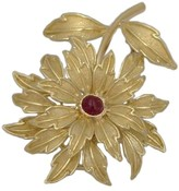 Tiffany & Co. 18K Yellow Gold Ruby Flower Floral Pin Brooch