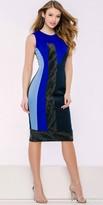 Jovani Black Studded Color Block Panel Dress