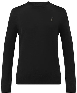 Polo Ralph Lauren Logo-embroidered Merino-wool Sweater - Black