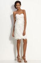 Mock Two Piece Satin & Lace Dress