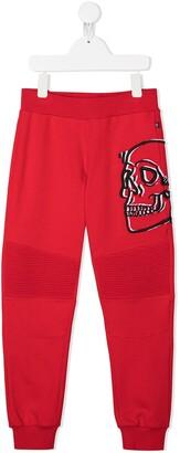 Philipp Plein Junior Skull Print Track Trousers