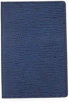 Neiman Marcus Lizard-Embossed Leather Passport Case