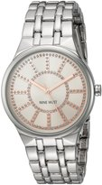 Nine West Women's Quartz Metal and Alloy Dress Watch, Color:Silver-Toned (Model: NW/1919PKSB)
