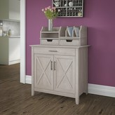 Beachcrest Home Cyra Credenza Desk Color: Washed Gray