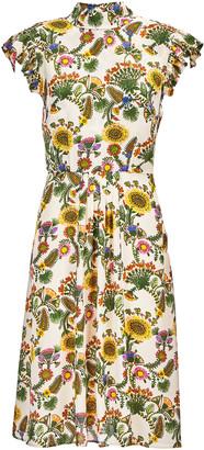 La DoubleJ Bon Ton Printed Chiffon Mini Dress
