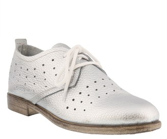 Spring Step Leather Lace Up Oxfords - Reginia