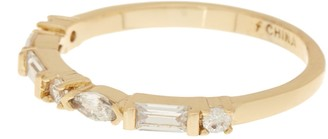 Marquis Baguette & CZ Band Ring