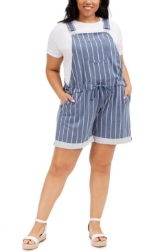 Full Circle Trends Trendy Plus Size Printed Short Overalls