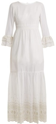 Athena Procopiou - Sunday Morning Lace-trimmed Maxi Dress - Womens - Ivory