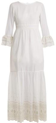 Athena Procopiou - Sunday Morning Lace Trimmed Maxi Dress - Womens - Ivory