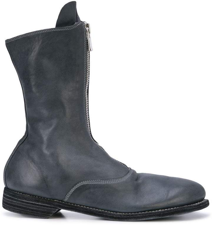 Guidi zipped mid-calf boots