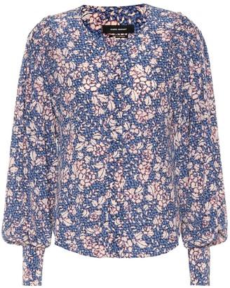 Isabel Marant Berny printed silk-blend blouse